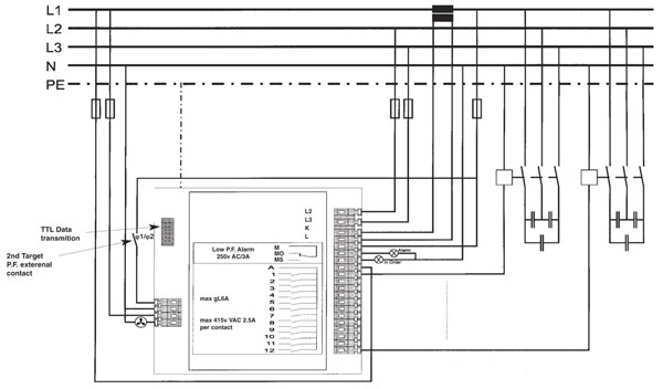 Apfc Relay Control Wiring Diagram : Cx power factor control relay