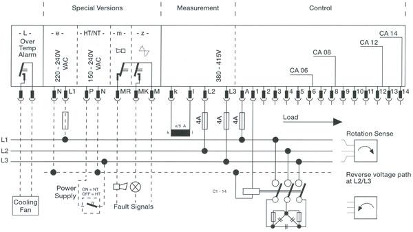 blrca_connection_diag three phase power factor controller circuit diagram circuit and power factor controller wiring diagram at webbmarketing.co