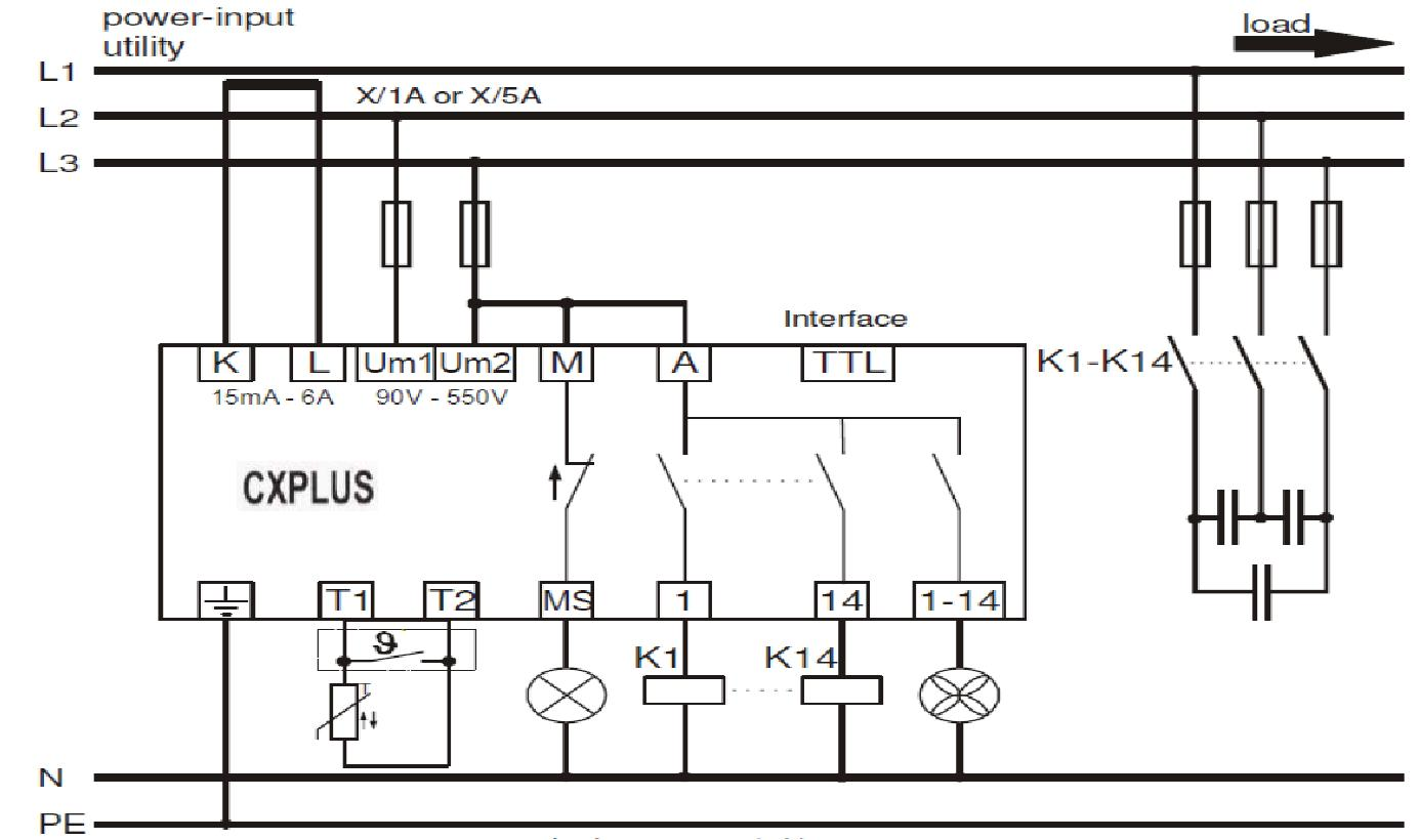 Power factor control relay cxplus power factor control relay cxplus wiring diagram asfbconference2016 Choice Image